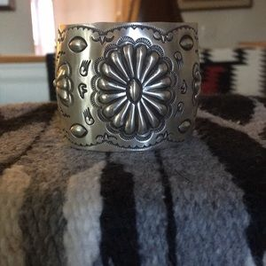 Jewelry - Silver repousse cuff
